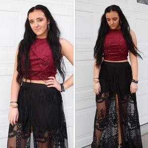 Dresses & Skirts - Host Pick: Black Lace Skirt